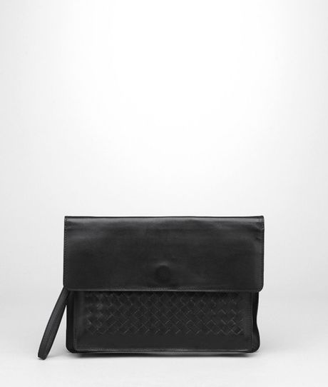 Bottega Veneta Intrecciato Vachette Document Case in Black for Men (Nero)