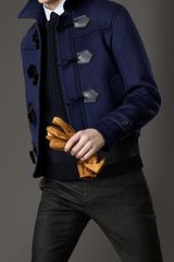 Burberry Leather Detail Duffle Blouson - Lyst