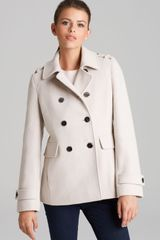 Calvin Klein Peacoat Double Breasted Military - Lyst