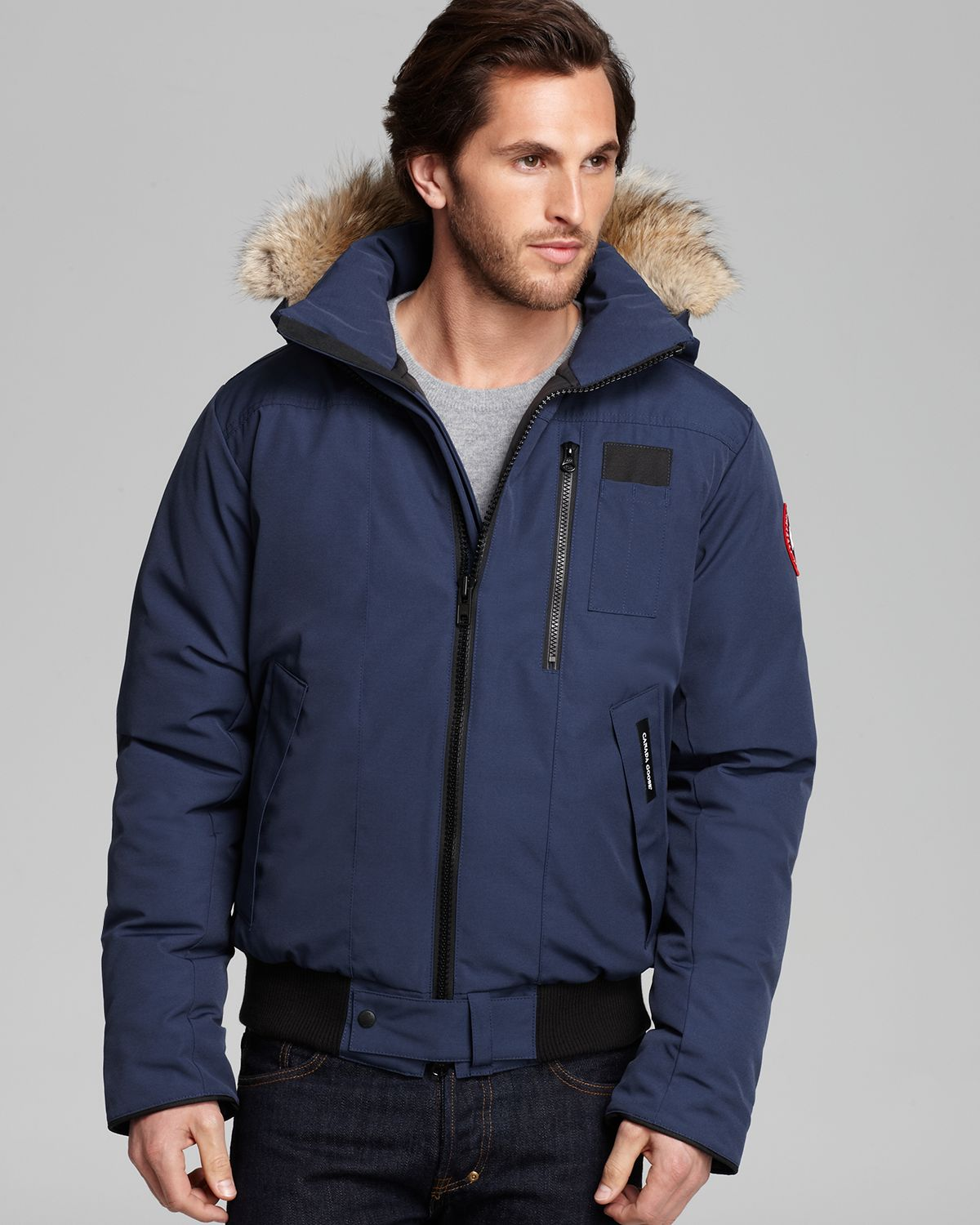canada goose borden bomber graphite mens jackets