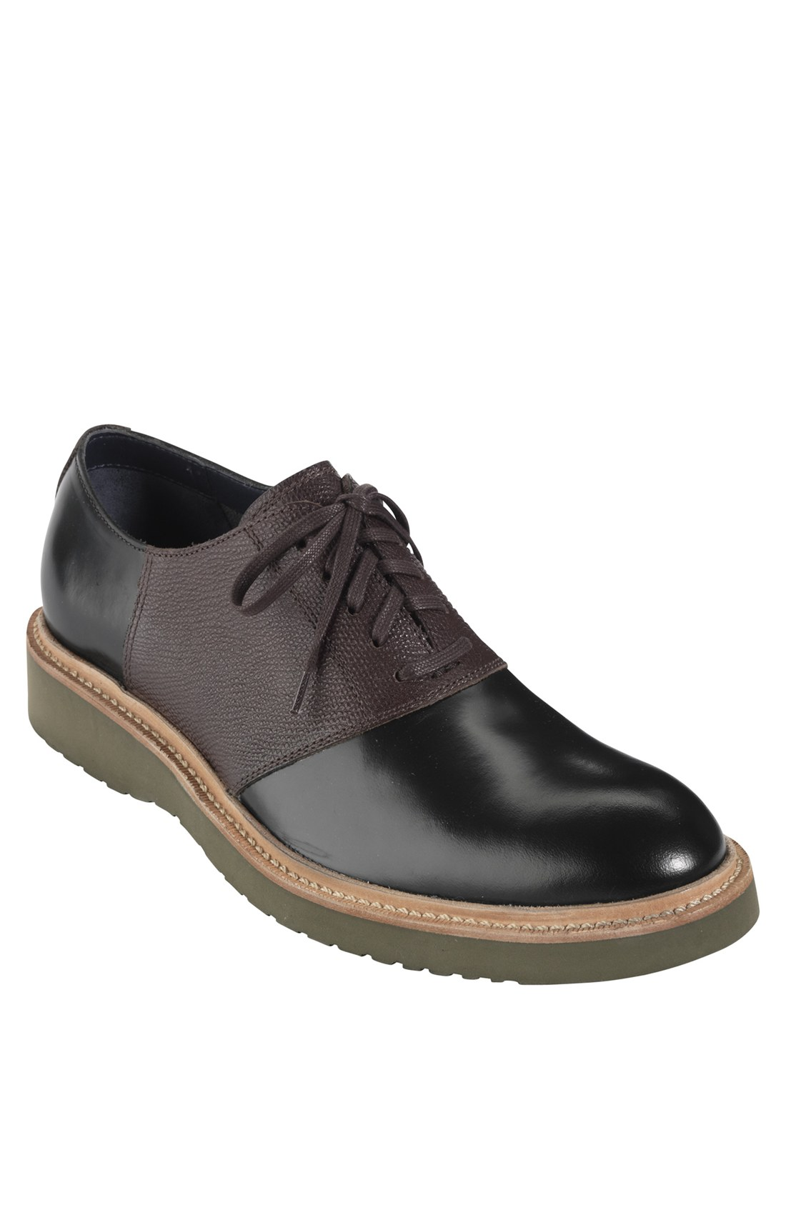 cole haan martin saddle shoe in black for black