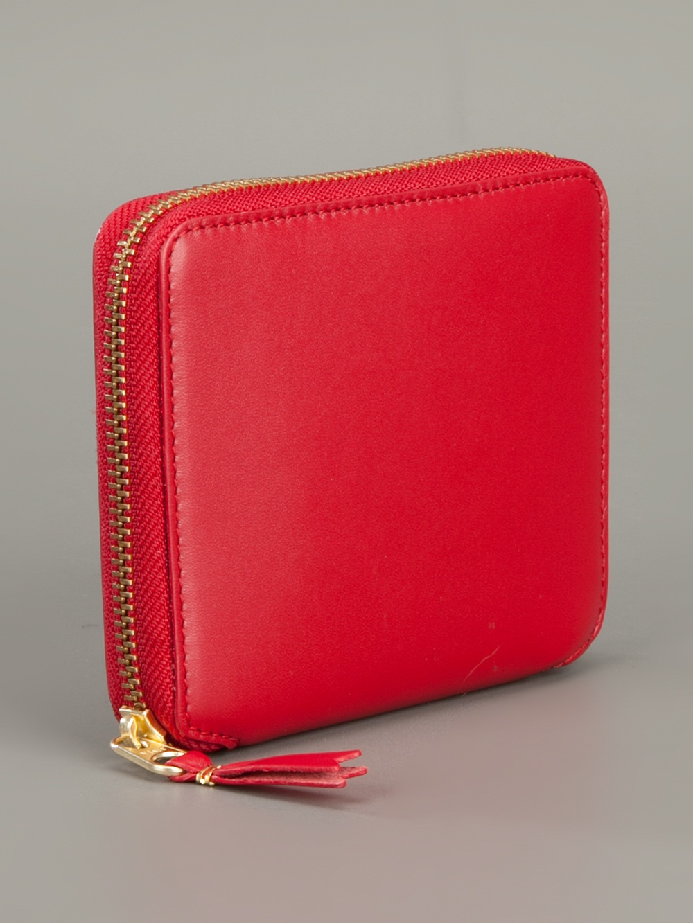 lyst comme des gar231ons zip up wallet in red