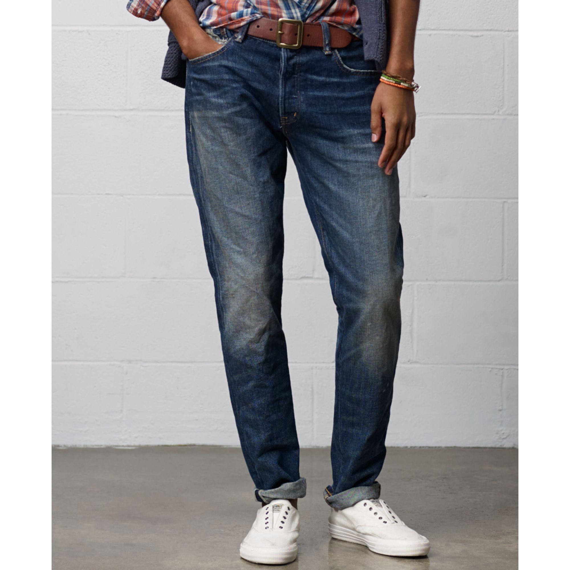 denim supply ralph lauren renton tapered straight fit jeans in blue for men renton lyst. Black Bedroom Furniture Sets. Home Design Ideas