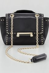 Diane Von Furstenberg 440 Mini Studded Flaptop Crossbody Bag Black - Lyst