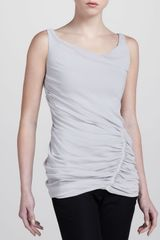 Donna Karan New York Crushed Doublelayer Tank - Lyst