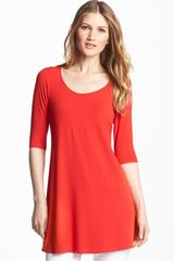 Eileen Fisher Scoop Neck Tunic - Lyst