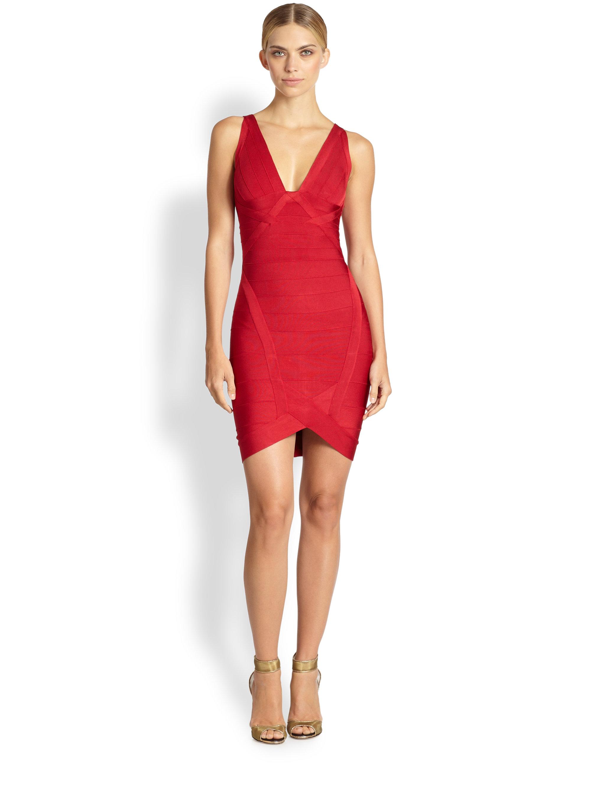Red bandage dress herve