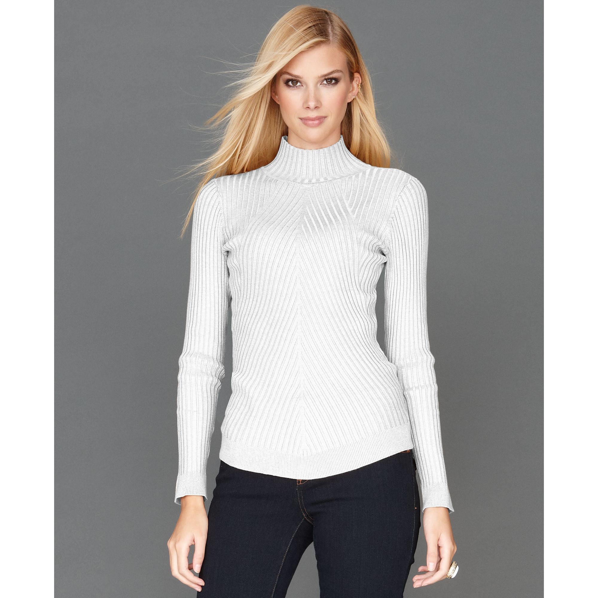 Inc international concepts Longsleeve Mock-turtleneck Ribbed knit ...