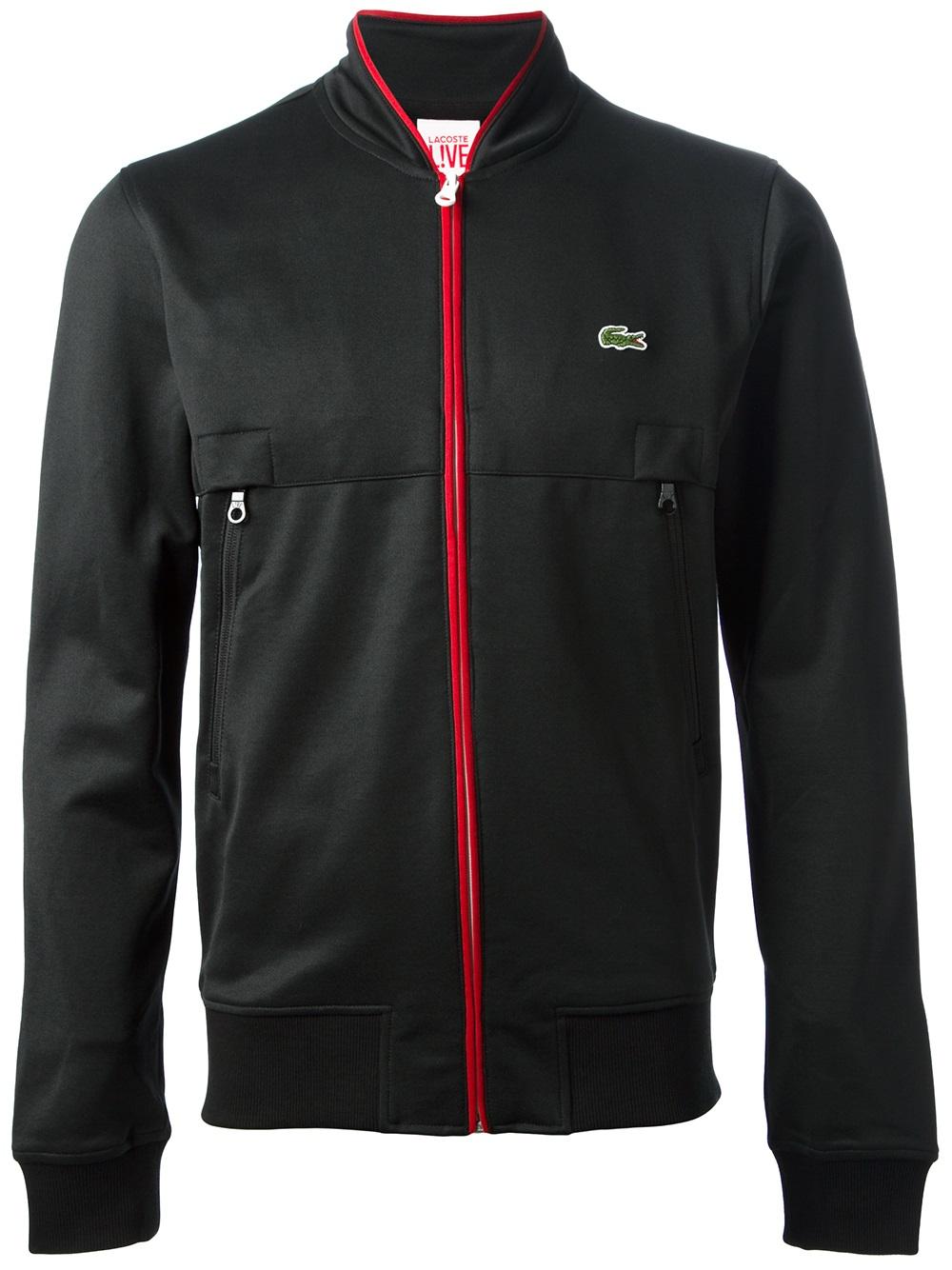 lacoste l ive sports jacket in black for men lyst. Black Bedroom Furniture Sets. Home Design Ideas