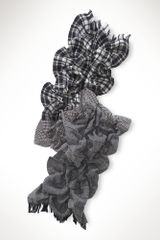 Lauren by Ralph Lauren Wool Patchwork Ruffled Scarf - Lyst