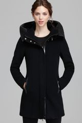 Mackage Coat Sunski Leather Trim Hood - Lyst
