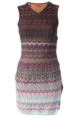 Missoni Knit Patterned Dress - Lyst