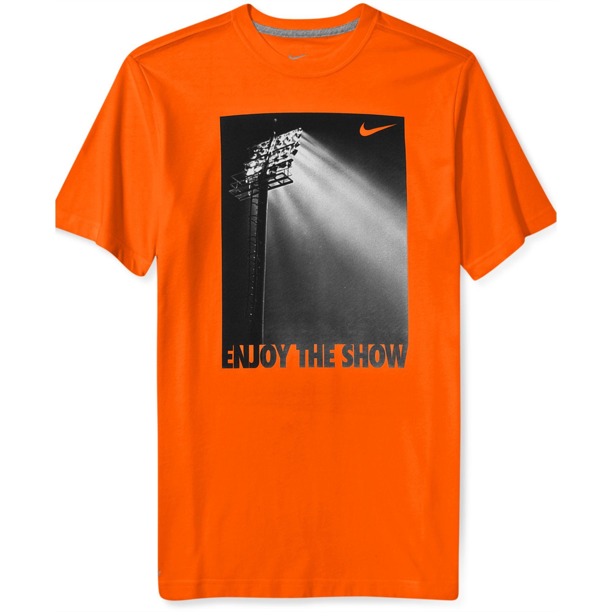 Nike Enjoy The Lights Graphic T-shirt in Orange for Men   Lyst
