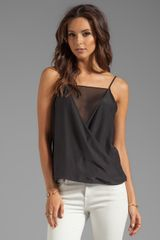 Parker Martinique Sheer Top in Black - Lyst