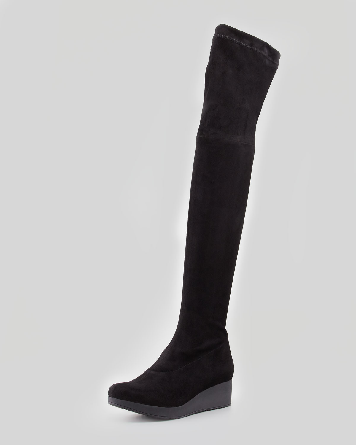 robert clergerie vatuf stretch wedge overtheknee boot in