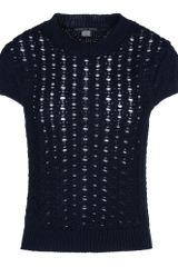 Theyskens' Theory Short Sleeve Sweater - Lyst