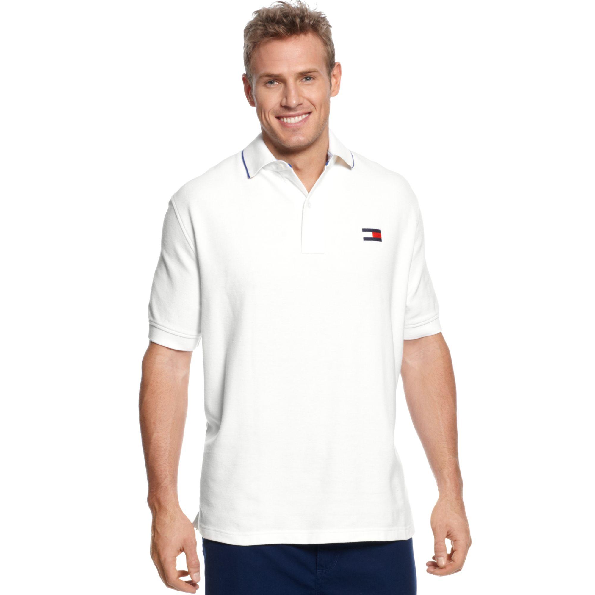 tommy hilfiger sydney polo shirt in white for men classic. Black Bedroom Furniture Sets. Home Design Ideas