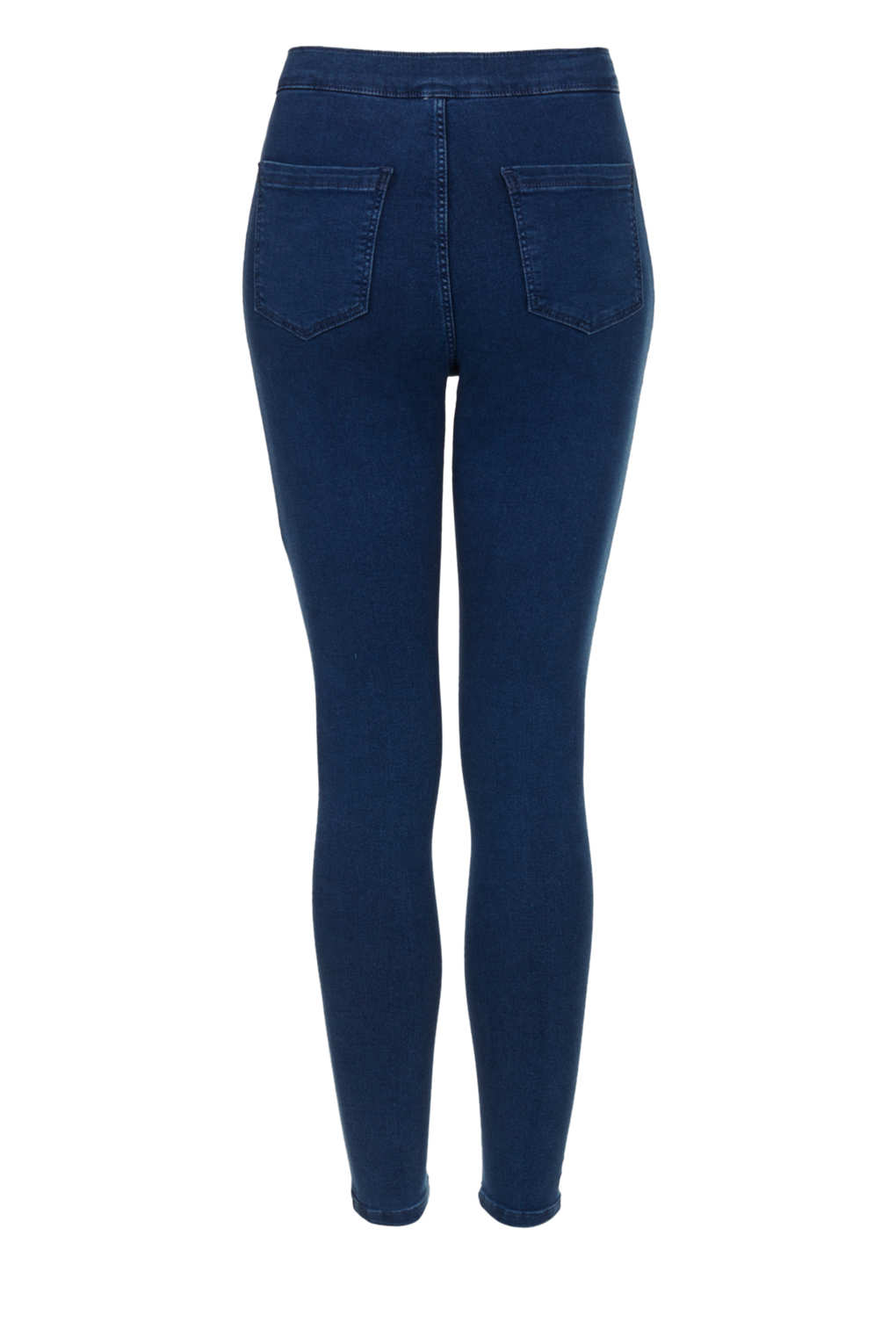 topshop petite moto high waisted jeans in blue lyst. Black Bedroom Furniture Sets. Home Design Ideas