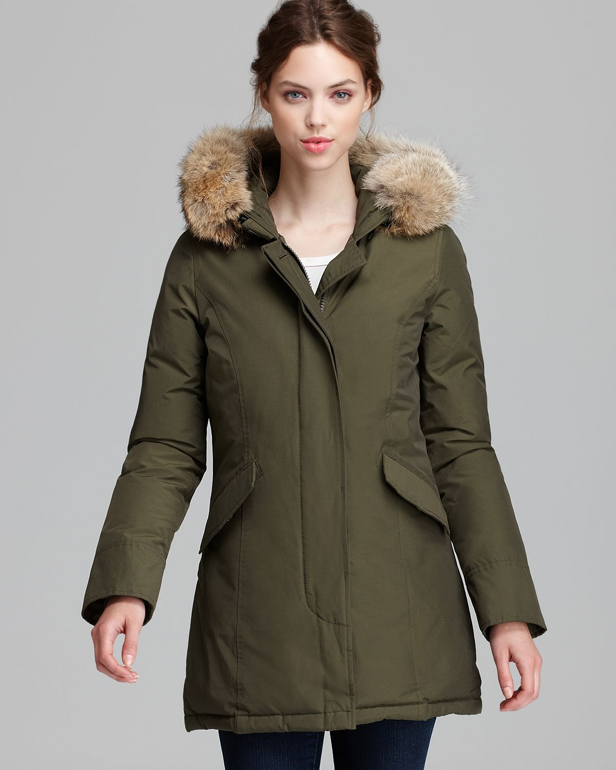 Woolrich Parka Arctic A Line in Green | Lyst