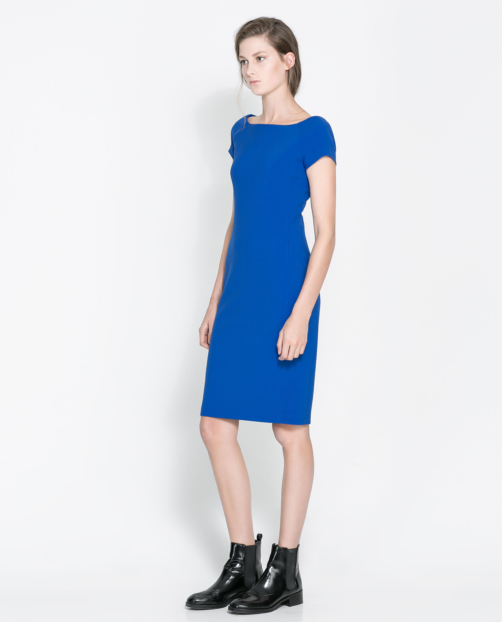 Blue dress zara discount