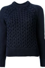 Acne Acne Cable Knit Sweater - Lyst
