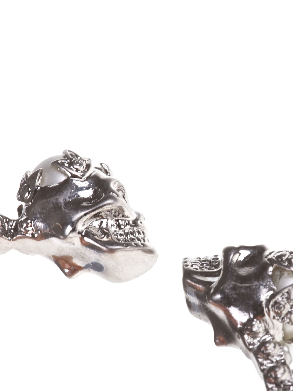 Alexander McQueen skull torque bangle - Metallic vElQ5