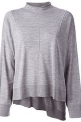 Alexander Wang Asymmetric Wide Sweater - Lyst