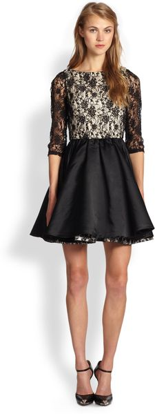 Alice + Olivia Katelin Double Layer Skirt Dress - Lyst
