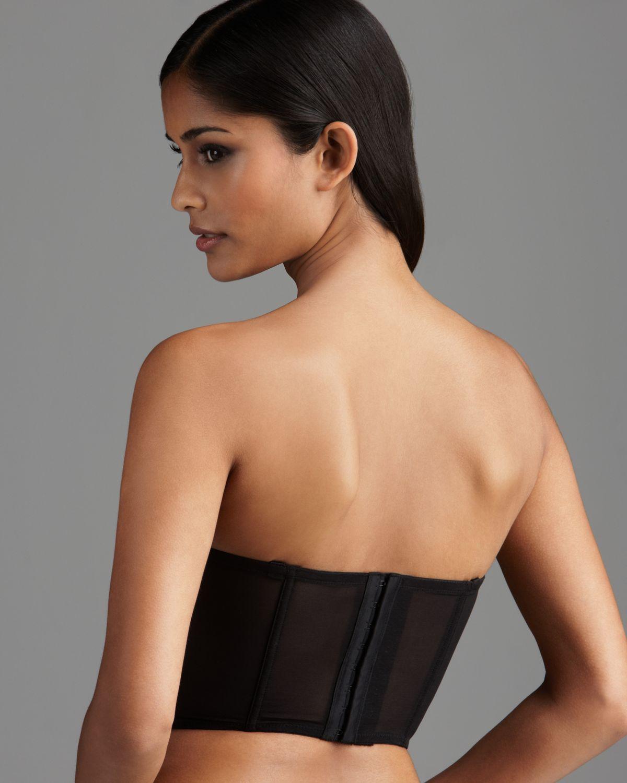 Blush lingerie Corset Bra Libertine Strapless Cropped in Black | Lyst