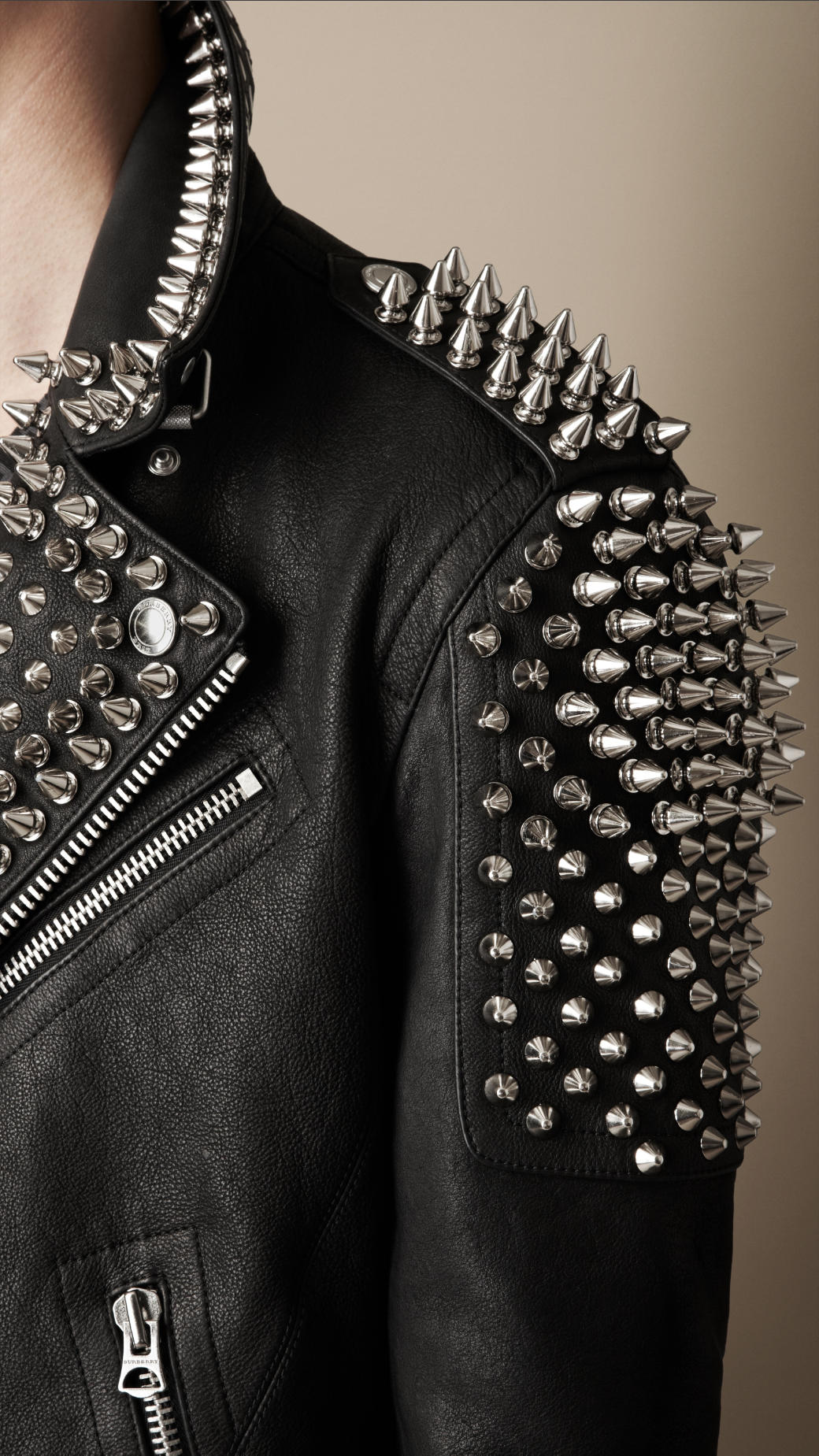 Lyst Burberry Multi Stud Biker Jacket In Black For Men