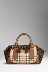 Burberry The Small Blaze in Check and Animal Print - Lyst