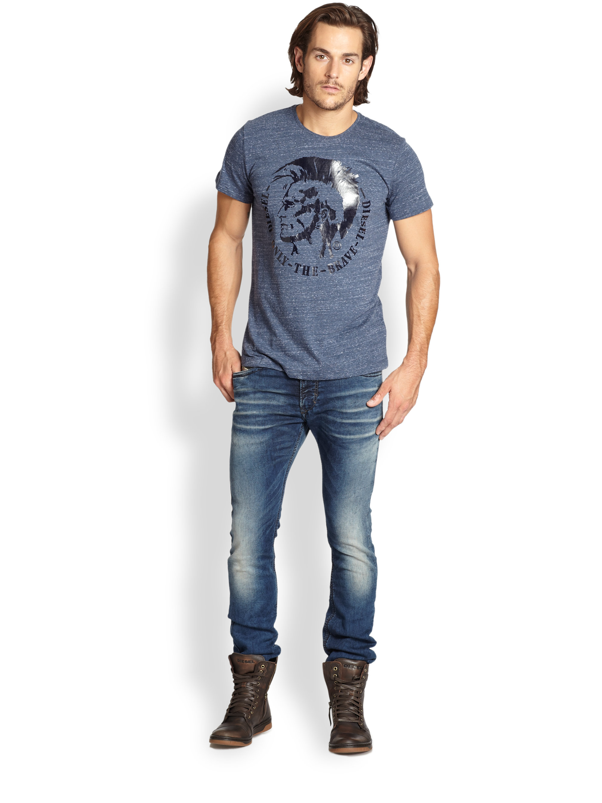 lyst diesel thavar jogg jeans in blue for men. Black Bedroom Furniture Sets. Home Design Ideas
