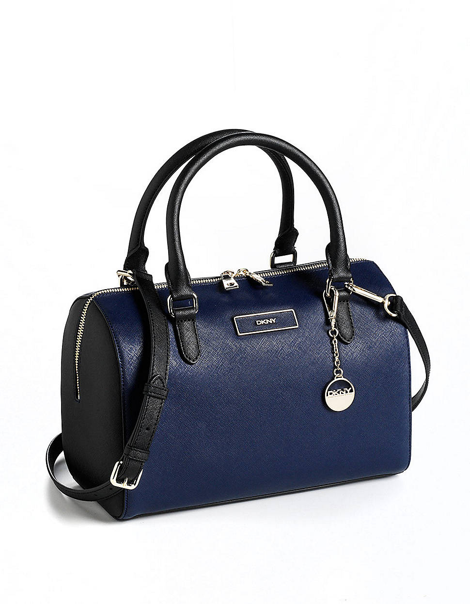 Dkny Saffiano Leather Satchel Bag in Blue (navy)
