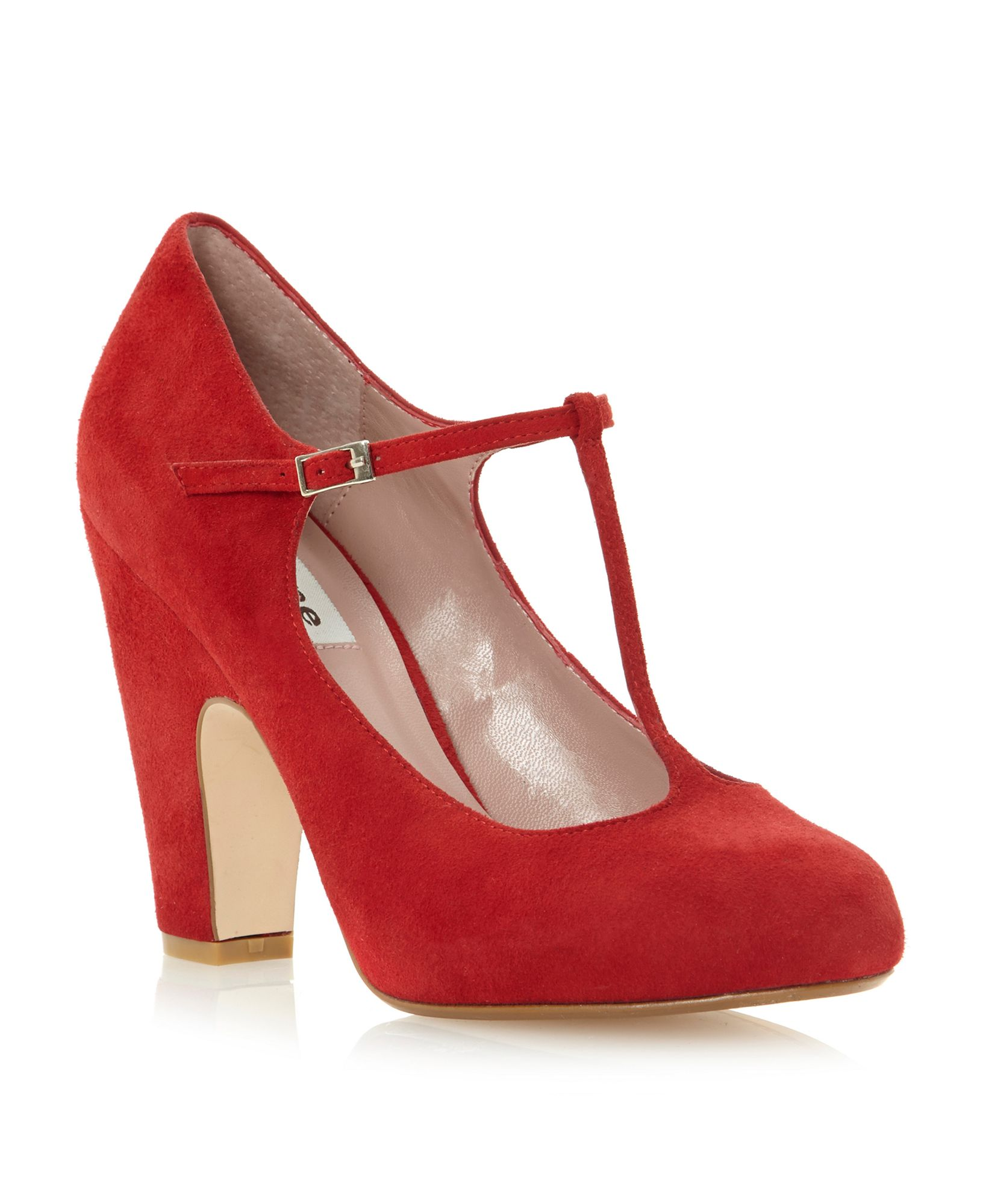 Red Block Heel Shoes | Tsaa Heel