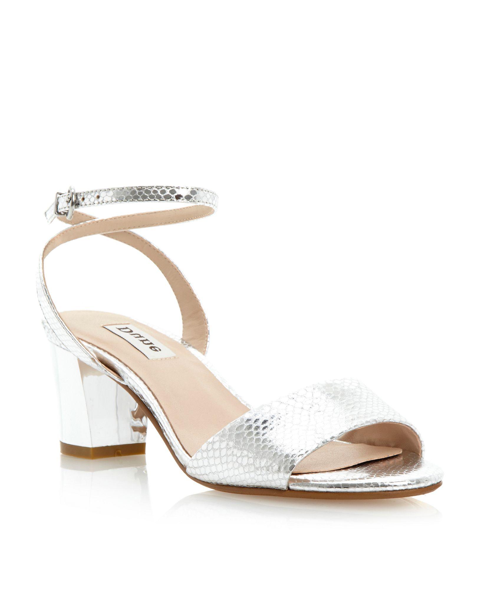 d15b1524376 Lyst - Dune Haria Block Heel Sandals in Metallic