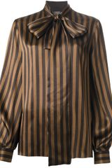 Fendi Striped Blouse - Lyst