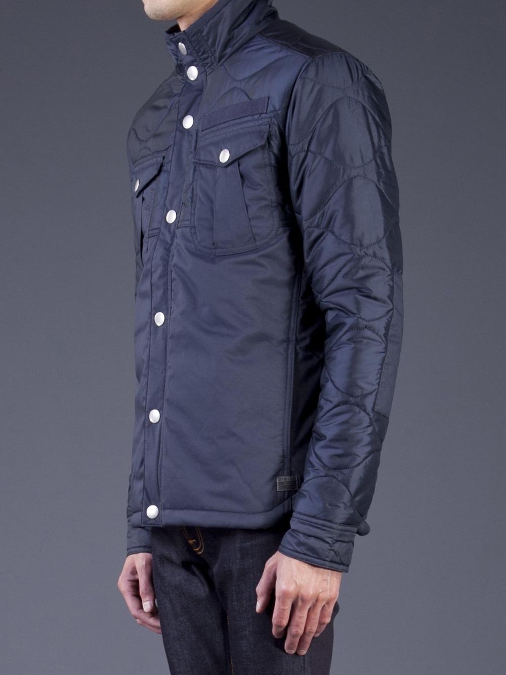 G Star Raw Gstar Filch Overshirt Jacket In Blue For Men Lyst