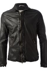 Giorgio Brato Leather Jacket - Lyst