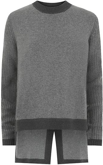 Givenchy Bicolour Dipped Sweater - Lyst