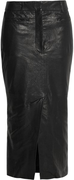 Haider Ackermann Leather Midi Skirt - Lyst