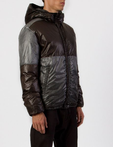 Isaora Garment Dyed Reversible Down Jacket In Black For