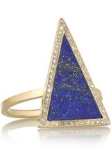 Jennifer Meyer 18karat Gold Lapis Lazuli and Diamond Ring - Lyst