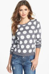 Kensie Reversible Dot Sweater - Lyst