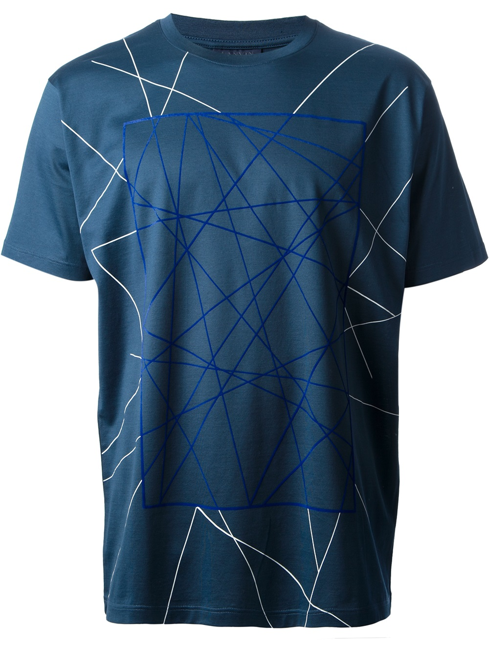 Lyst lanvin geometric print t shirt in blue for men for Print one t shirt