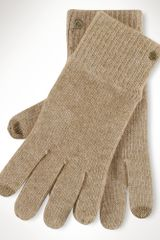 Lauren by Ralph Lauren Woolblend Touch Gloves - Lyst