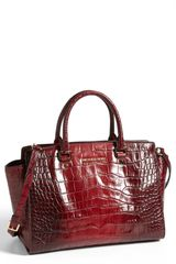 Michael by Michael Kors Selma Large Leather Satchel - Lyst