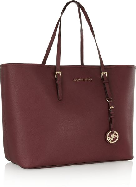 Discount Code For Michael Kors Totes - Bags Michael By Michael Kors Jet Set Travel Medium Texturedleather Tote Purple