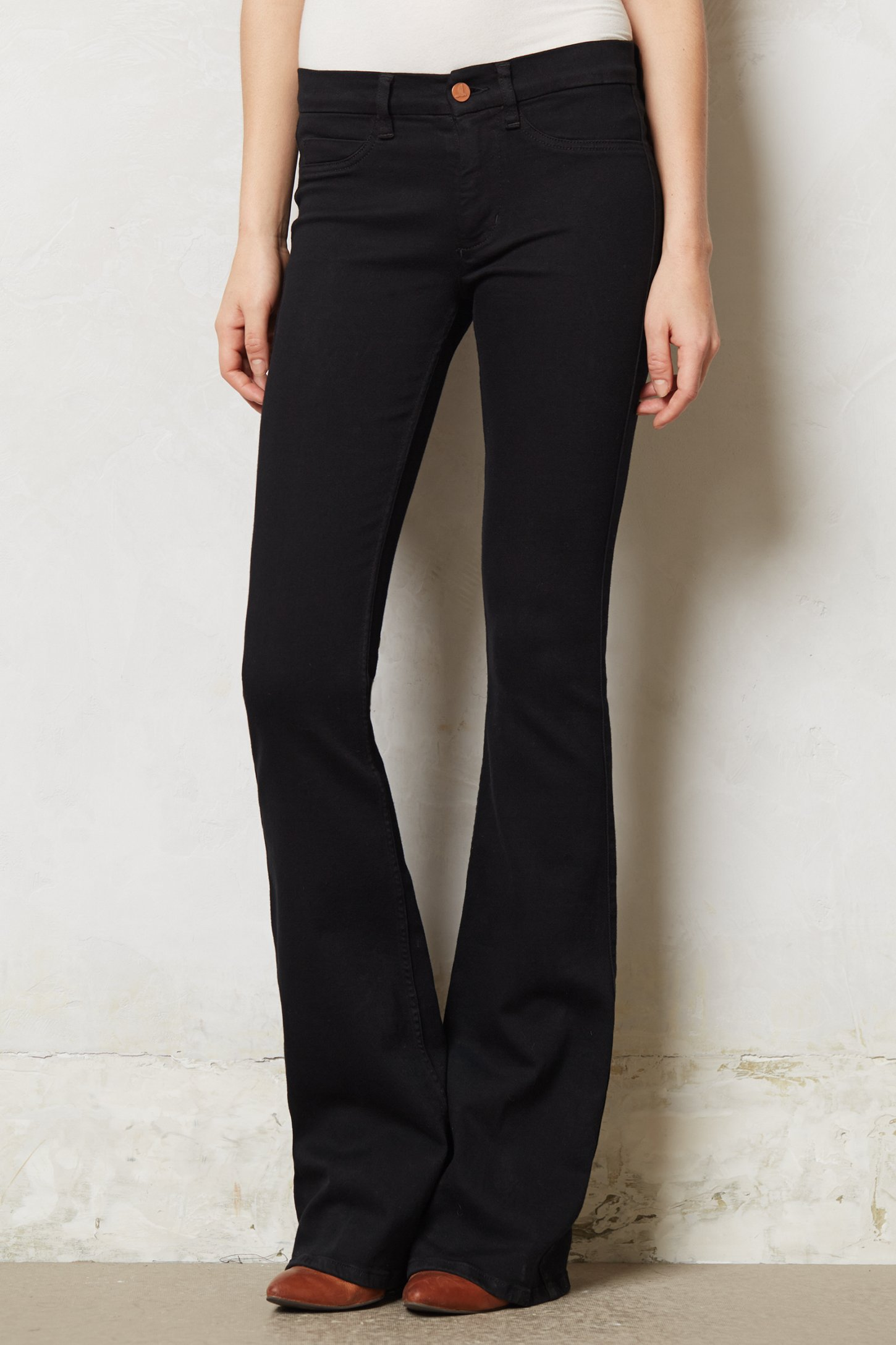 M.i.h jeans Marrakesh Skinny Kick Flare Jeans in Black | Lyst