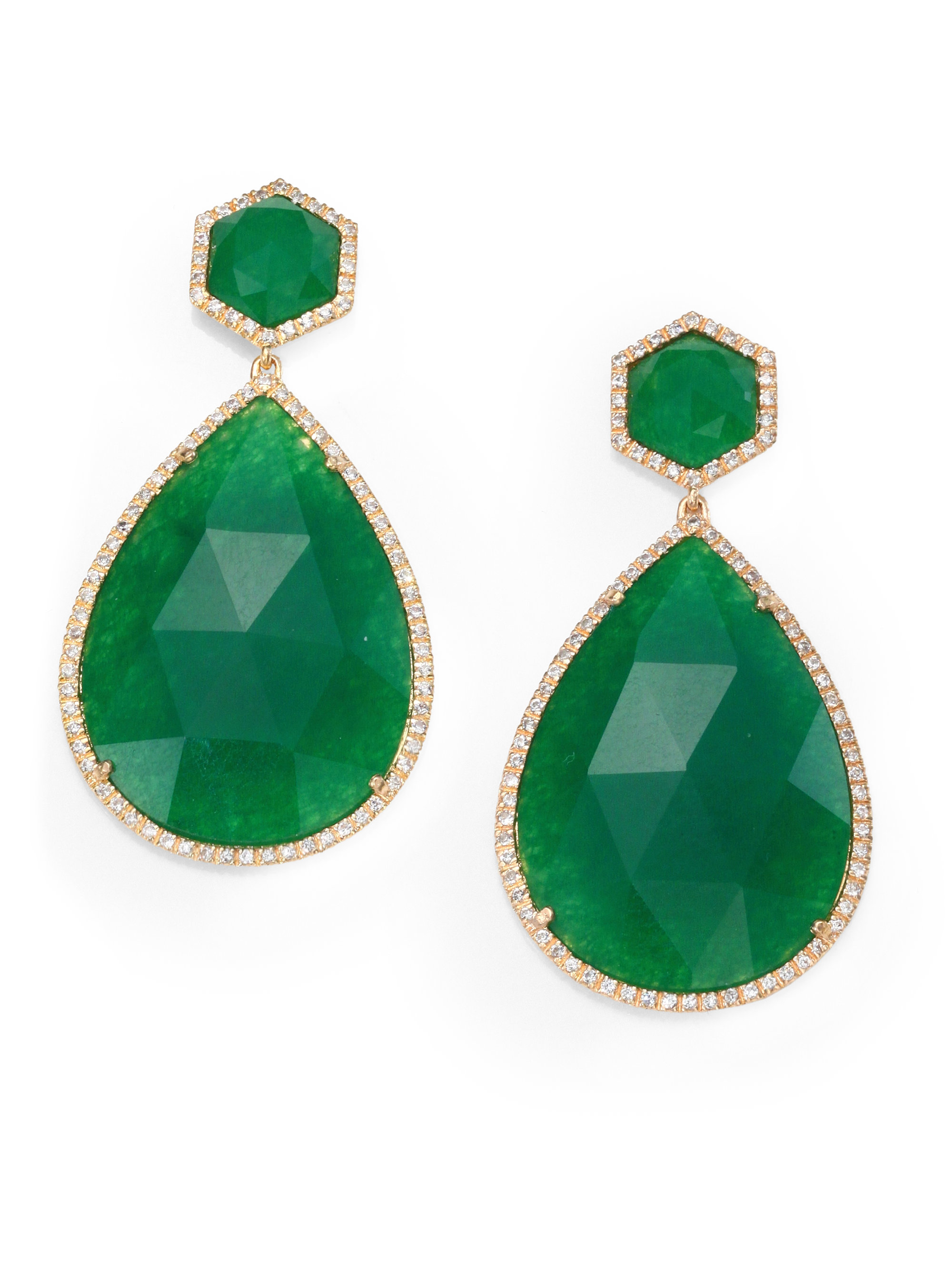 cut jewelry green byj e cz stud rectangle bling earrings emerald az silver