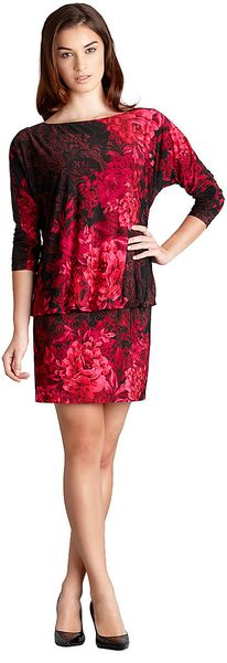 Muse Threequarter Sleeve Rose Print Blouse - Lyst